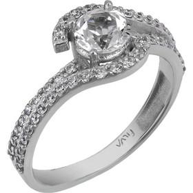 Λευκόχρυσο δαχτυλίδι Κ14 με πέτρες swarovski χειροποίητο 025763 025763 Χρυσός  14 Καράτια 426724165b6
