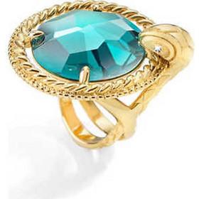 Just Cavalli Γυναικείο Κόσμημα Δαχτυλίδι από ανοξείδωτο ατσάλι σε Χρυσό  Χρώμα με Πράσινο Κρύσταλλο και Χρυσή λεπτομέρεια της σειράς JUST QUEEN  1244099083a