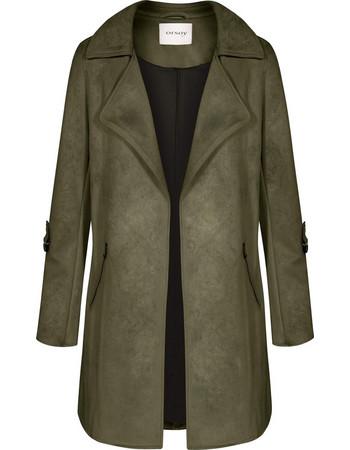 Orsay γυναικείο ημίπαλτο απο faux suede δέρμα - 845005-844000 - Χακί 966886066ae