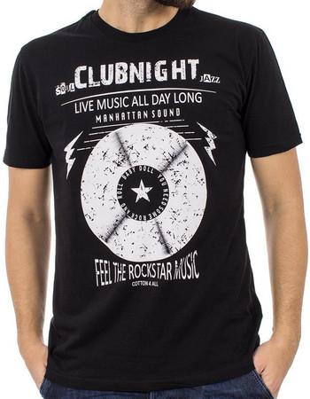 Ανδρικό Κοντομάνικη Μπλούζα T-Shirt Cotton4all 18-500 Μαύρο 6c32dc2c0ea
