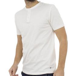 e57adf9bc9f1 Ανδρικό Κοντομάνικη Μπλούζα T-Shirt Henley Flama Tee DOUBLE TS-64 Λευκό