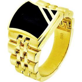 Χρυσό ανδρικό δαχτυλίδι Κ14 τύπου Rolex DAN103A 9f639e3e8a4