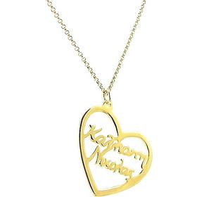 Κολιέ με 2 ονόματα σε μια καρδιά σε ασήμι 925 με επιχρύσωμα ce53ff6a7d5