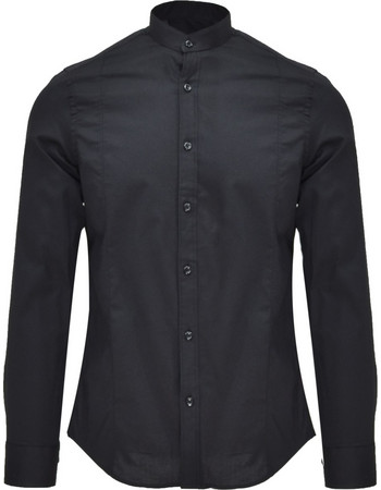 DOMENICO DELL ACQUA SHIRT - 205 MAO BLACK 375364a7e89