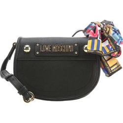 fafb48bce2 Love Moschino γυναικεία crossbody τσάντα μονόχρωμη με μαντήλι -  JC4039PP17LD0 - Μαύρο