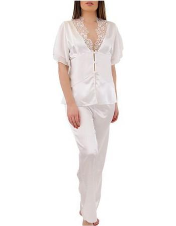FMS Γυναικεία Νυφικό Πυτζάμα - Σατέν 915 Λευκό cd3b24e7825