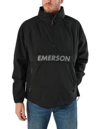 Emerson Roll-In Hood Pullover Jacket 182.EM10.50-Black e045d1025cb