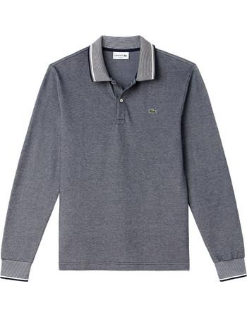 Lacoste ανδρική μπλούζα πόλο μονόχρωμη με ριγέ λεπτομέρειες - PH1963 - Γκρι 799b2f30b8d