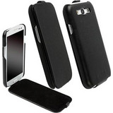 Krusell Leather Slimcover Black (Galaxy S III)
