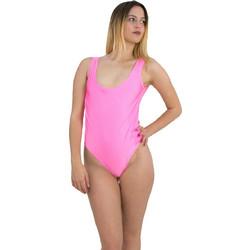 Γυναικείο μαγιώ ολόσωμο ροζ με φαρδιά ράντα AMELIA4 523ff2f3062