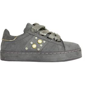Γυναικεία Sneakers Suede με σατέν κορδόνια γκρι AD781G be0bb94fbdc