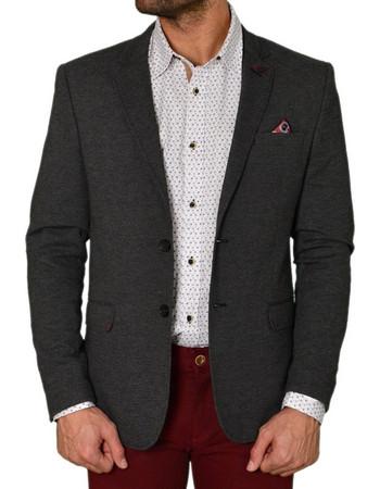 Ανδρικό σακάκι γκρι με μαντήλι 1391 16c5ff0f6e0