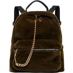 Πράσινο Γούνινο Mini Backpack b8f6b02d110