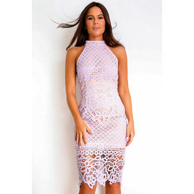 99d6ac3981d6 chic cocktail crochet φόρεμα δαντέλα Adele lilac