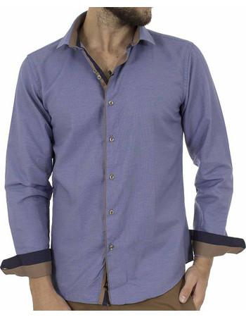4179eaca0b67 Ανδρικό Μακρυμάνικο Πουκάμισο Slim Fit CND Shirts 3750-3 Γαλάζιο