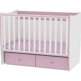 323ae09c245 Bertoni Matrix Μετατρεπόμενο Βρεφικό Κρεβατάκι 120x60 - White Pink