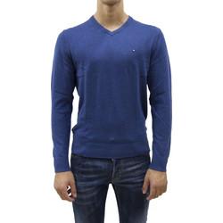 50e565d7c3dd TOMMY HILFIGER PIMA CTN CASHMERE V NECK SWEATER BLUE