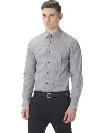 PAPILIO GARAMAS καρό πουκάμισο PG-600 1080 γκρι λευκό 99bd0f9595e