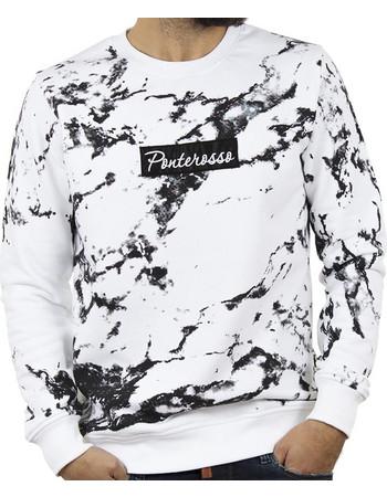 Ανδρικό Μπλούζα Φούτερ PONTE ROSSO MARBLE 18-2041 Λευκό 071b2844de4