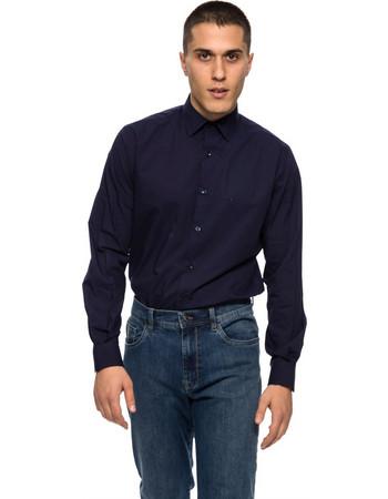 The Bostonians ανδρικό πουκάμισο μακρυμάνικο μονόχρωμo - AMP1170 - Μπλε  Σκούρο 70b9c43f05b