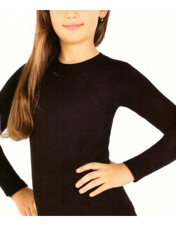 Παιδική ισοθερμική μπλούζα κοριτσίστικη μακρύ μανίκι 836 - ΜΑΥΡΟ 433dc7c1866