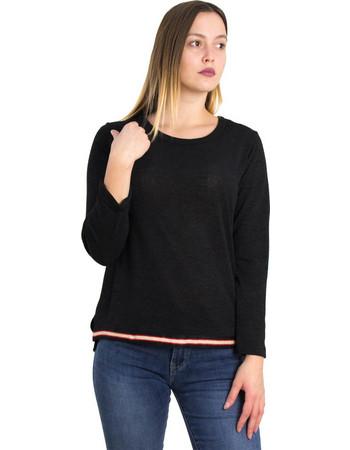 c12b727adc02 Γυναικεία μαύρη ασσύμετρη πλεκτή μπλούζα τρέσα 1175980L