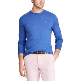 f239577f809 Polo Ralph Lauren ανδρική πλεκτή μπλούζα με στρογγυλή λαιμόκοψη Slim Fit -  710744679003 - Μπλε