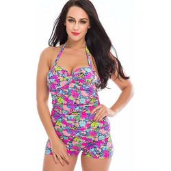 b9240d49cb14 TQSKK Ladies One-piece Swimsuit Top Halter Beachwear