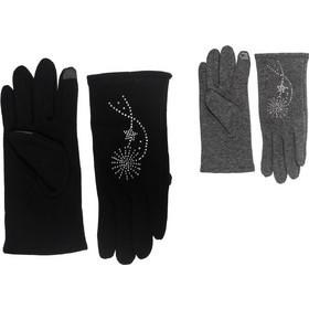 Γάντια γυναικεία με στρας κι επένδυση touchscreen 4cccec99524