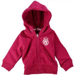 Κοριτσίστικη ζακέτα με φερμουάρ και κουκούλα σε φούξια με ροζ λεπτομέρειες  Λογότυπο Στο Στήθος και Φερμουάρ 07b6051b96f