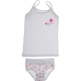 49432573f25d Παιδικό βαμβακερό σετ εσωρούχων σε λευκό χρώμα για κορίτσι Emy