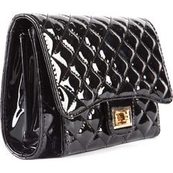 Μαύρη καπιτονέ τσάντα λουστρίνι 2100707a423