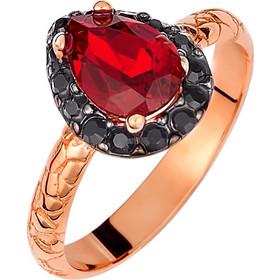 Ασημένιο δαχτυλίδι ροζέτα δάκρυ 925 με κόκκινη πέτρα SWAROVSKI AD-E1213KR3 7252eb968c2