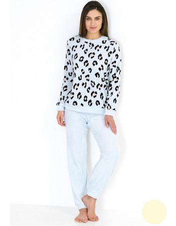 Linclalor Γυναικεία Πιτζάμα Fleece 85581 Εκρού fd43f8b6204
