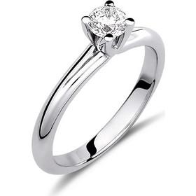 Μονόπετρο δαχτυλίδι από λευκό χρυσό 18 καρατίων με διαμάντι 0.55ct e6ace119b95