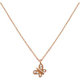 Κολιέ 14Κ Ροζ Χρυσό Πεταλούδα με Ζιρκόν - 01-10023 1a158db64c7