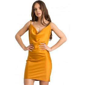 1c29b090c8ea F10324 Φόρεμα Satin Εξώπλατο - ΜΟΥΣΤΑΡΔΙ 18285