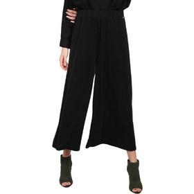 2e48ed47235 Γυναικείες Παντελόνες Funky Buddha Palazzo Womens Trousers Μαύρο  FBL101-02119