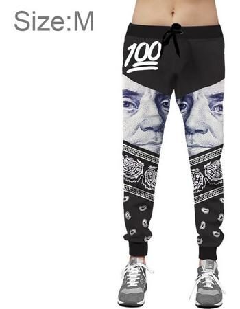 23139d44aabd 3D Digital Printing European Style President Dollar Pattern Fashion Casual  Jogger Pants Slacks