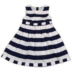 333252eac52 Φόρεμα παιδικό λευκές/μπλε ρίγες All About Emma