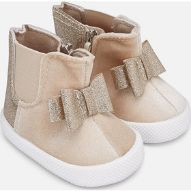 Mayoral Μποτάκια Chelsea boots for baby girl cream 9934-084 Mayoral fc2a1f2fe26