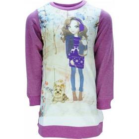 Παιδικό Φόρεμα Joyce 7482 Μωβ Εμπριμέ Κορίτσι bcd9eb5e113