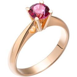 Δαχτυλίδι από ροζ χρυσό 18 καρατίων με κόκκινο τοπάζι διαμέτρου 6mm και  0.95ct της Swarovski 8723a32357f