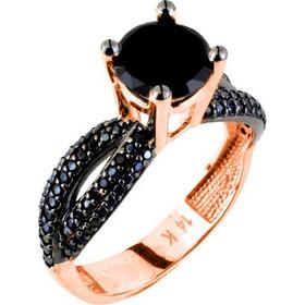 Μονόπετρο δαχτυλίδι από ροζ χρυσό Κ14 με ζιργκόν DMN2247R-A a2a062ad877