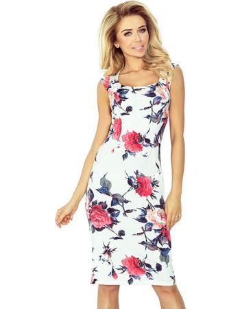 fafbb147b8 Εφαρμοστό Μίντι Φόρεμα με φλοραλ print