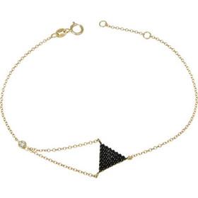 Χρυσό βραχιόλι Κ14 με μαύρες πέτρες 028688 028688 Χρυσός 14 Καράτια 7ff17c1cf5d