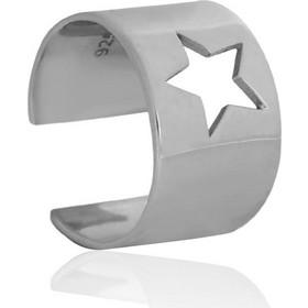 Ασημένιο Δαχτυλίδι Σεβαλιέ One Size με σχέδιο Διάτρητο Αστέρι 9ff008847d9