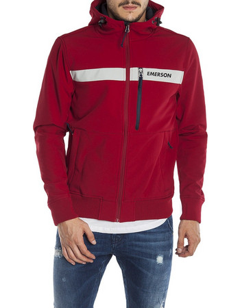 Emerson Hooded Bonded Sport Jacket 182.EM11.34-Red-Ice 08db09a8ae5