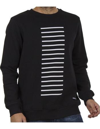 Ανδρικό Μπλούζα Φούτερ PONTE ROSSO 18-2048 LINES Μαύρο 58c88f042c2