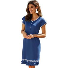 d58a5651b72 Νυχτικό με κουμπιά κάτω από το στήθος για Θηλασμό Μπλε ANDRA Dreamwear  Andra Dreamwear